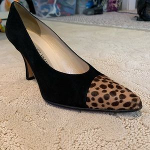 Martinez Valero Suede High Heel w/ Cheetah Detail